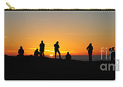 Carry-all Pouch featuring the photograph Panorama Everyone Likes A Sunset by Vivian Christopher