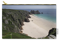 Carry-all Pouch featuring the photograph Porthcurno Cove by Jayne Wilson