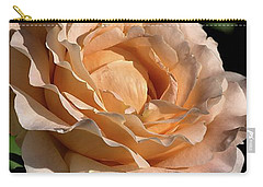 Carry-all Pouch featuring the photograph Orange Rose by Joy Watson