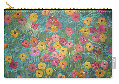 A Field Of Flowers Carry-all Pouch by John Keaton
