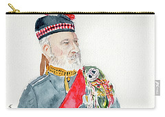Carry-all Pouch featuring the painting A Scottish Soldier by Yoshiko Mishina