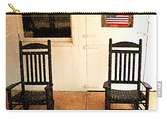 Carry-all Pouch featuring the photograph American Porch by Desiree Paquette