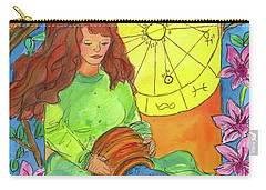 Carry-all Pouch featuring the painting Aquarius by Cathie Richardson