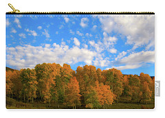 Carry-all Pouch featuring the photograph Aspens by Steve Stuller