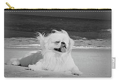 Beachbum Black And White Carry-all Pouch