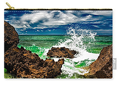 Blue Meets Green Carry-all Pouch by Christopher Holmes