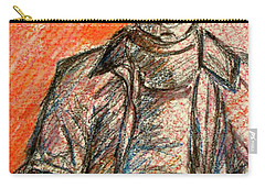 Carry-all Pouch featuring the painting Boy In Red by Cathie Richardson