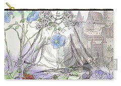 Carry-all Pouch featuring the painting Celestial Castle by Cathie Richardson