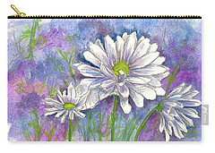 Carry-all Pouch featuring the painting Daisy Three by Cathie Richardson