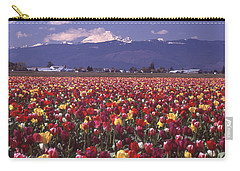 Field Of Tulips And Mount Baker Carry-all Pouch