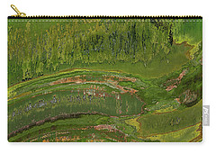 Green Moss Abstract Carry-all Pouch