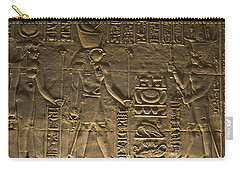 Hieroglyph At Edfu Carry-all Pouch by Darcy Michaelchuk