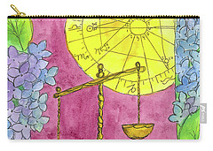 Carry-all Pouch featuring the painting Libra by Cathie Richardson