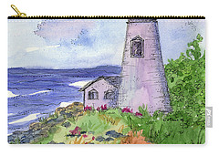 Carry-all Pouch featuring the painting Lighthouse In Summer  by Cathie Richardson