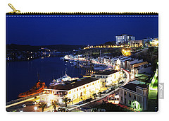 Carry-all Pouch featuring the photograph Mahon Harbour At Night by Pedro Cardona