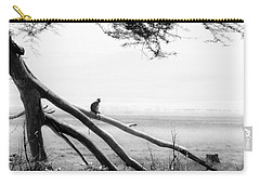 Monkey Alone On A Branch Carry-all Pouch by Darcy Michaelchuk