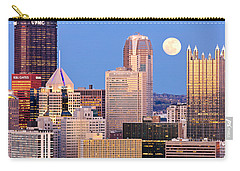 Moon Over Pittsburgh 2 Carry-all Pouch by Emmanuel Panagiotakis