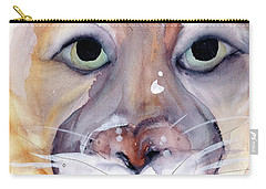 Carry-all Pouch featuring the painting Mountain Lion by Dawn Derman
