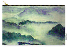 Carry-all Pouch featuring the painting Mountain Oriental Style by Yoshiko Mishina