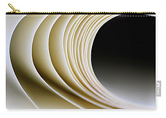 Carry-all Pouch featuring the photograph Paper Curl by Pedro Cardona