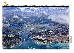 Pearl Harbor Aerial View Carry-all Pouch by Dan McManus