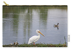Pelican Reflection Carry-all Pouch by Alyce Taylor