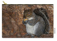 Carry-all Pouch featuring the photograph Squirrell by Pedro Cardona