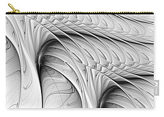 Carry-all Pouch featuring the digital art The Wall by Anastasiya Malakhova
