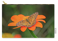 Variegated Fritillary On Flower Carry-all Pouch