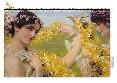 When Flowers Return Carry-all Pouch by Sir Lawrence Alma-Tadema
