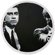 - Pulp Fiction - Round Beach Towel by Luis Ludzska