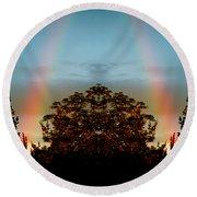 The Rainbow Effect Round Beach Towel by Sue Stefanowicz