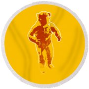 Astronaut Graphic Round Beach Towel