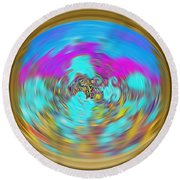 Enchanted View. Unique Art Collection Round Beach Towel