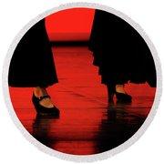 Round Beach Towel featuring the photograph Flamenco 2 by Pedro Cardona