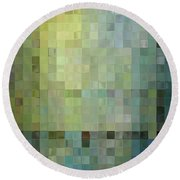 Modern Tile Art One Modern Decor Collection Round Beach Towel by Mark Lawrence