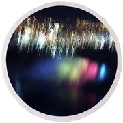 Light Paintings - Ascension Round Beach Towel