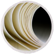 Round Beach Towel featuring the photograph Paper Curl by Pedro Cardona