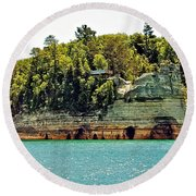 Pictured Rock 6323  Round Beach Towel