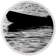 Round Beach Towel featuring the photograph The Old Fishermen by Pedro Cardona