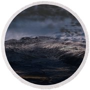 Troubled Waters Round Beach Towel