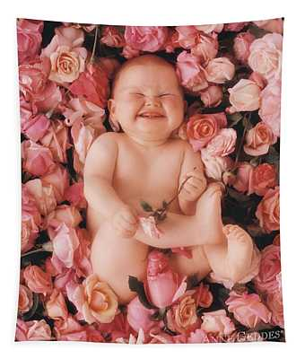 Baby Flowers 2 Tapestry