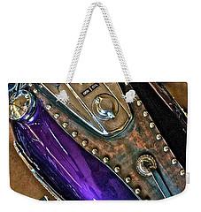 1953 Purple Harley Panhead Weekender Tote Bag
