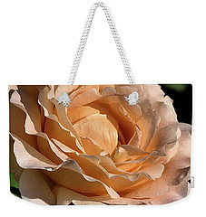 Weekender Tote Bag featuring the photograph Orange Rose by Joy Watson