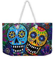 Couple Day Of The Dead Weekender Tote Bag