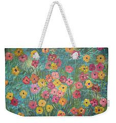 A Field Of Flowers Weekender Tote Bag by John Keaton