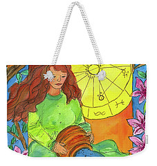 Weekender Tote Bag featuring the painting Aquarius by Cathie Richardson