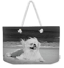 Beachbum Black And White Weekender Tote Bag