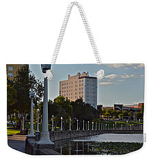 Beautiful Downtown Lakeland Weekender Tote Bag by Carol  Bradley