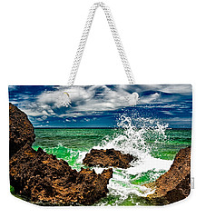 Blue Meets Green Weekender Tote Bag